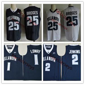 Hommes NCAA Villanova Wildcats Kyle Lowry College Basketball Jersey # 2 Kris Jenkins # 25 Mikal Bridges Villanova Wildcats Jersey S-3XL