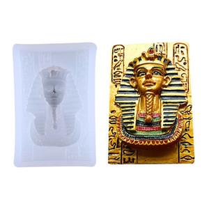 Accesorios de la joyería faraón egipcio Cabeza Retrato de silicona del molde DIY del colgante Moldes UV Resina Epoxi Jewerly Haciendo Accesorios