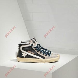 GoIden Goose super zoom Hococal nuovo di alta qualità italiana scarpe fatte a mano g uomini e donne di Alta-Top Scarpe Da Ginnastica In Pelle di moda big boy Super Star Scarpe