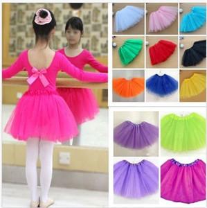 Tutú de ballet Hasta princesa Tutus danza faldas partido del traje de niño de las muchachas de los niños FALDAS 17colors