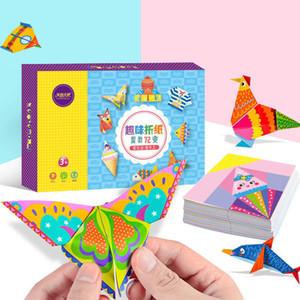 152pcs / set DIY educativos Origami de papel de corte Crafts libro infantil hecho a mano juguetes Kinder Fun Puzzle niños de juguete de bebé regalos T200401