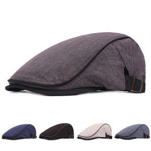 High Quality Unisex Cotton Linen Breathable Newsboy Cap Ivy Hats Men Women Fashion Street Dress Cap Travel Sunhat Casquette
