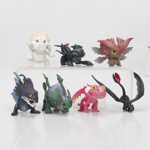 Ejderhanı 3 Ejderha Oyuncaklar Gece Fury Dişsiz Pvc Action Figure Oyuncaklar Bebekler 7 adet / takım Y190604