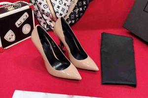 2019 zapatos de tacón alto de lujo de las mujeres vendedoras calientes, zapatos de tacón alto del diseñador de las mujeres, tacones altos de la laca nacarados acentuados, size35-41