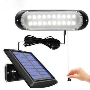 Lampe solaire Panneau solaire séparable et lumière avec ligne étanche Pull-interrupteur d'éclairage disponible en plein air ou à l'intérieur
