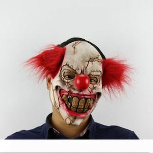 Рождество Rotten лицо клоун Latex Horror маска Halloween Engage Bar Танец Реквизит красной маска для волос головного убора