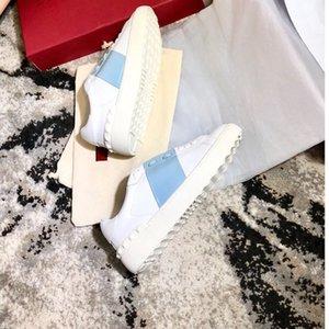 Hot Sale-Open кроссовок с синей полосой NY0S0830 BLU G62 Кроссовки Кроссовки Обувь с коробкой