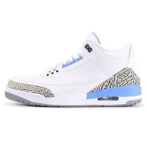 Top Quality Jumpman 3 Denim Ls Jeans Basketball Shoes Men 3S Nrg Blue Black White Denims Sports Sneakers New#677