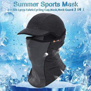 Caps Cyclisme été anti-UV Sport Masque VTT Casque de vélo Chapeau Courir Faire du cheval Pêche Bandana Motorcycle Face Mask