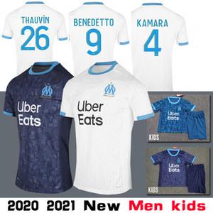 2020 Tay Olympique De Marseille Futbol Forma SANSON THAUVIN PAYET BENEDETTO Rami Erkekler LOPEZ THAUVIN Camiseta de futebol L.GUSTAVO Formalar