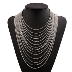 Gold and silver link chain statement choker necklace big chain heavy chunky necklace statement women fashion statement necklace jewelry