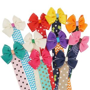 Laço de Cabelo meninas Laço de Cabelo Clip Holder INS bebê organizador do armazenamento portátil Hairwear Belt crianças decoração do quarto HHA835