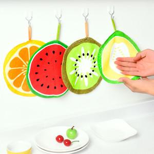 Drucken Frucht Hanging Küchentuch Mikrofasertücher Wasseraufnahme Quick Dry Cleaning Abwischen Rag Spültuch Serviette Scouring Pad DBC BH2924