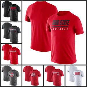 Ohio State Buckeyes Sideline Legend Performance-T-Shirts gedruckt kurze Hülse O-Ansatz T-Fußball College Team Sports-T-Shirts
