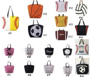 18 estilo bolsas de mano al aire libre de grandes mujeres de la señora capacidad de bolsas de baloncesto de dibujos animados bolsas de fútbol de béisbol softbol hombro paquetes