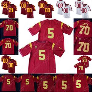 USC Trojans Futbol Forması Troy Polamalu OJ Simpson 42 Ronnie Lott 5 Reggie Bush 33 Marcus Allen 55 Junior Seau Anthony Munoz Carson Palmer