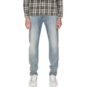 20SS Skinny Slim-fit Stretch Denim Trousers Straight Biker Pants High Street Washed Solid Jeans Fashion Casual Simple Denim Pants HFYMKZ253