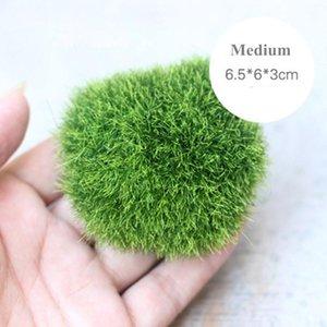 Wholesale- Miniature Artificial Moss Plant Long Plush Stone Micro Landscaping Home Garden Decor Wedding Decoration Craft DIY Accessories