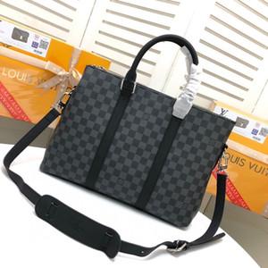 Bolso de lujo del equipaje del bolso del diseñador de los hombres de negocios mujer de marca bolsas de viaje de la cartera del hombro del bolso de gran capacidad Negro Computer Bags