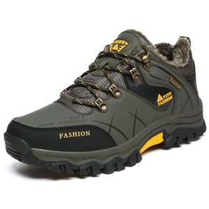 Men Shoes Anti-Skidding Leather Shoes Men Popular Comfy Short Plush Snow Durable Outdoor 2019 New Climbing