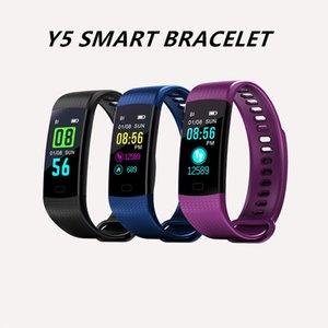 Pressão Y5 inteligente Pulseira Pulseira de Fitness Rastreador arterial Monitor impermeável Sport relógio inteligente para IPhone Samsung com pacote de varejo