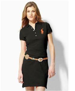 Kadınların polos Beş renklerin S-XL için sıcak yeni 2019 Ücretsiz Kargo Sıcak% 100 Pamuk kadın marka polo Elbiseler Moda Kadın Günlük Elbiseler