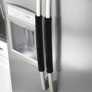 Two Pairs Of Refrigerator Handle Cover Kitchen Utensils Refrigerator Cover Handles Antiskid Protector Gloves for Fridge Oven