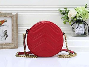 GG handbags purse round bags Marmont women chain crossbody chain bags classic black 550154 0OLET 1000 hot sell