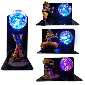Dragon Ball Super Goku Vegeta Gogeta Figuras Led Light Dragon Ball Lamp Ultra Instinct Goku Bedroom Decorative Night Light Gifts CX200703