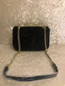 2018 TOP Fashion black chain makeup bag Borsa di lusso famosa del partito Borsa in pelle di velluto Marmont Borse designer da donna Spedizione gratuita # 5118