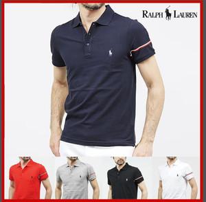A última moda T-shirt homens de manga curta T-shirt da marca London New York Chicago camisa polo homens baratos qualidade cavalheiro