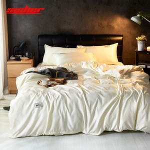 Sisher Breve Soild copripiumino Bianco set King Size Quilt Covers Bedding Set base piana unico foglio regina Biancheria Biancheria