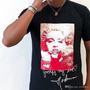 Fashion Brand Mens Designer T Shirt Summer High Quality Box Logo Madonna Tees Men Women Skateboard Streetwear Short Sleeve