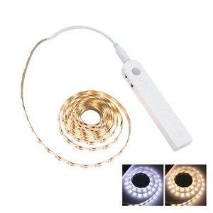 1M 2M 3M Sensor de movimento LED noite luz Bed Gabinete Escadas luz LED Strip Lâmpada de 5V a pilhas Para a iluminação TV Backlight
