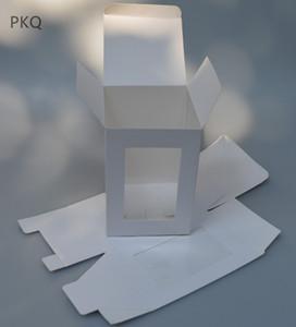 Pliage de papier Kraft Boîte avec fenêtre en PVC transparent Boîte Emballage cadeau Cajas Présent de fenêtre d'emballage Carton blanc