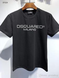 DS2 20SS Italia Disco Punk Streetwear hombre camisetas Carta de impresión de alta calidad Pantalones cortos Tops mujeres de los hombres de Hip Hop Harajuku Camiseta Tee HY524