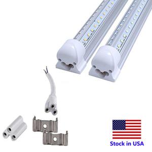 LED dükkan farları entegre v SMD2835 2 ft 4 ft 6 ft 8ft 600mm 1200mm 1800mm 2400mm AC85-265V led tüp şeklindeki T8