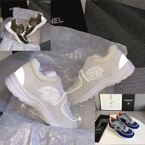 2020 nouveaux cuir tissu chaussures vintage plateforme baskets mode design de luxe de haute qualité des femmes occasionnels chaussures réfléchissantes coutures 35-41