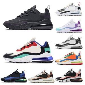 nike air max 270 react QS Hommes Femmes Sneaker Tripel Noir Blanc rouge Chaussures de Course Hommes Chaussures de sport athlétique Jogging chaussures taille 36-45