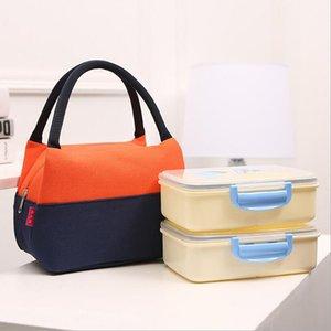 حقيبة منظم التخزين المحمولة العزل البارد قماش الغداء مربع الحاويات المعزول الحرارية