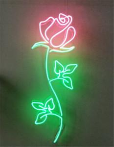 New Star Leuchtreklame Fabrik 24 Zoll Echtglas Leuchtreklame Licht für Bier Bar Pub Garage Zimmer Rose Blume.