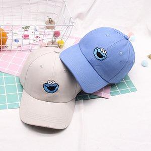 Primavera Nueva Calle Sésamo Tide Marca Sombrero de Hip Hop Caqui Soft Top gorra de béisbol Taz