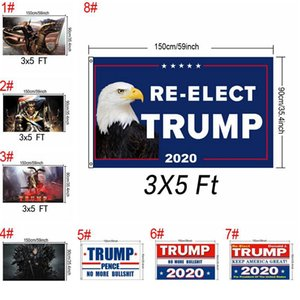 90x150cm Trump 2020 Flag Printed Keep America Great Banner Garden Decor President Re-election USA Donald Trump Flag 3X5 Ft Flag EEA1620