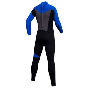 Kids Swimsuit 2mm Neoprene Back Zip Full Body Long Sleeve Wetsuit Diving for Boys Girls Swimming Surfing Snorkeling Suits