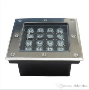 luzes subterrâneos LED quadrado inground parede convés caminho do jardim enterrado paisagem piso escada lâmpadas 3W / 4W / 5W / 6W / 9W / 12W / 16W / 24W / 36W