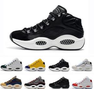 2019 zapatos calientes del diseñador de la venta Allen Iversons Pregunta Mediados de zapatos de baloncesto Q1 respuesta 1s hombres zoom zapatos corrientes de la zapatilla de deporte de lujo Elite Sport