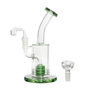 9inch verre Hookah Shisha eau Pipes barboteur Recyclage fumeur verre clair Bong 14mm verre Banger + Bowl