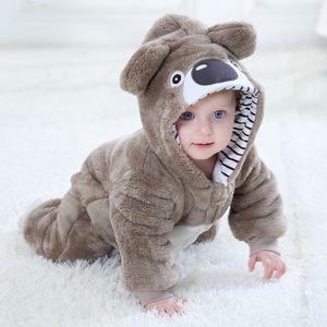 Orangemom 브랜드 가을 만화 의류 새로운 태어난 된 아기 플란넬 장난 꾸러기 아기 동물 패션 의류 여자 잠옷 아웃 의류 Y200320