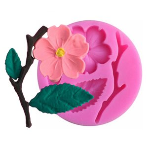 3D de qualité alimentaire moule en silicone Peach Blossom décoration de gâteau au chocolat bonbons outil Jello cuisson en silicone pour la confiserie Moisissures