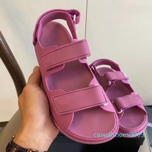 2020 de lujo varita mágica tamaño de los zapatos de las sandalias de piel de vaca en blanco y negro de cuero real del diseñador de moda plataforma de las mujeres 35 a 41 tradingbear c09